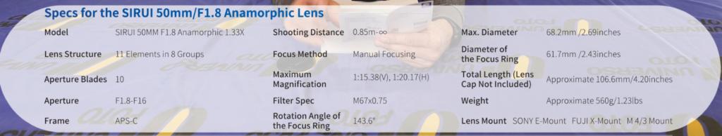 lente-anamorfica-sirui-50mm-caratteristiche