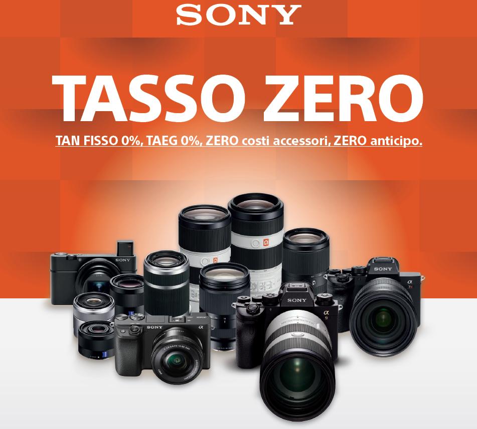tasso-zero-sony-31-agosto-fotocamera-obiettivi