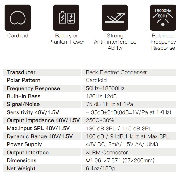 caratteristiche-synco-e10-microfono-a-gelato-per-canto-e-musica