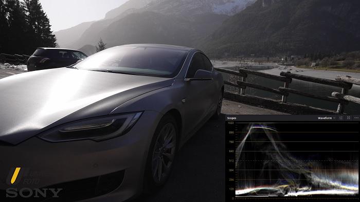 Tesla Model S profilo colore S-Cinetone