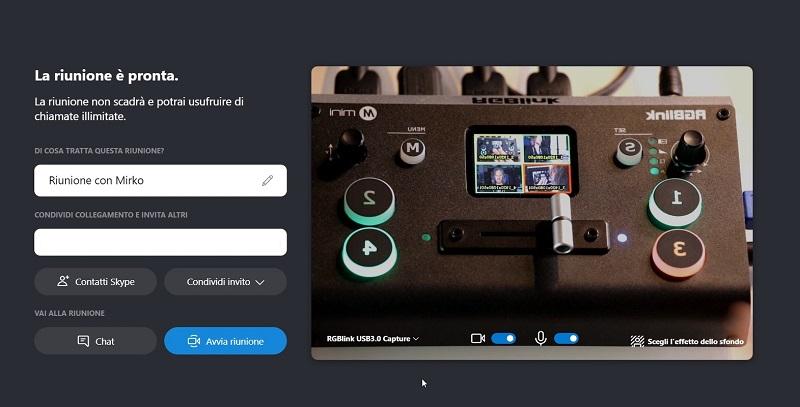 rgblink-mini-tutorial-italiano-skype